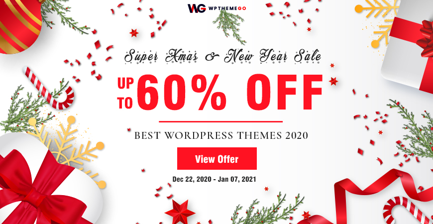 Best Xmas & New Year Deals! Up to 60% OFF on Best-Selling WordPress Themes 2020