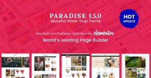 Elementor Ready in Paradise - Flower Shop WooCommerce WordPress Theme