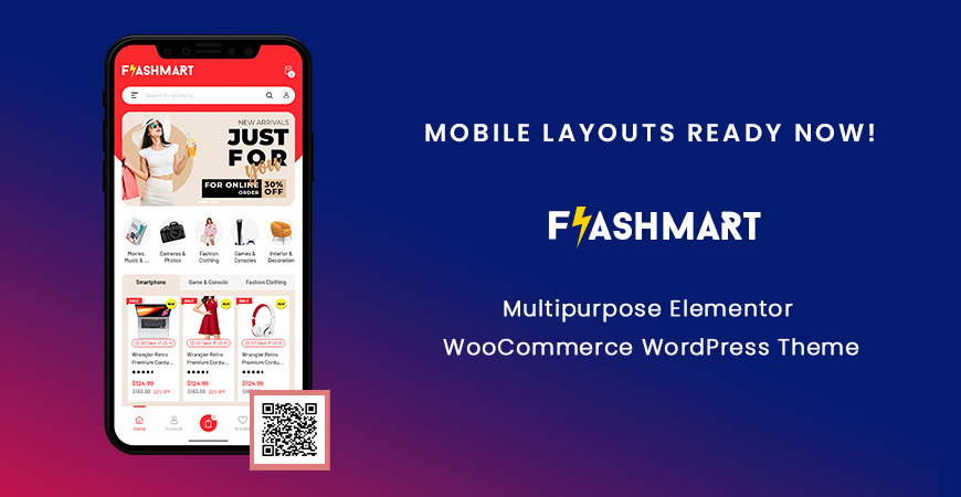 Mobile Layout Ready Now in FlashMart - Multipurpose Elementor WooCommerce WordPress Theme