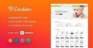 [NEW THEME] Certior - Jewelry Store Elementor WooCommerce WordPress Theme