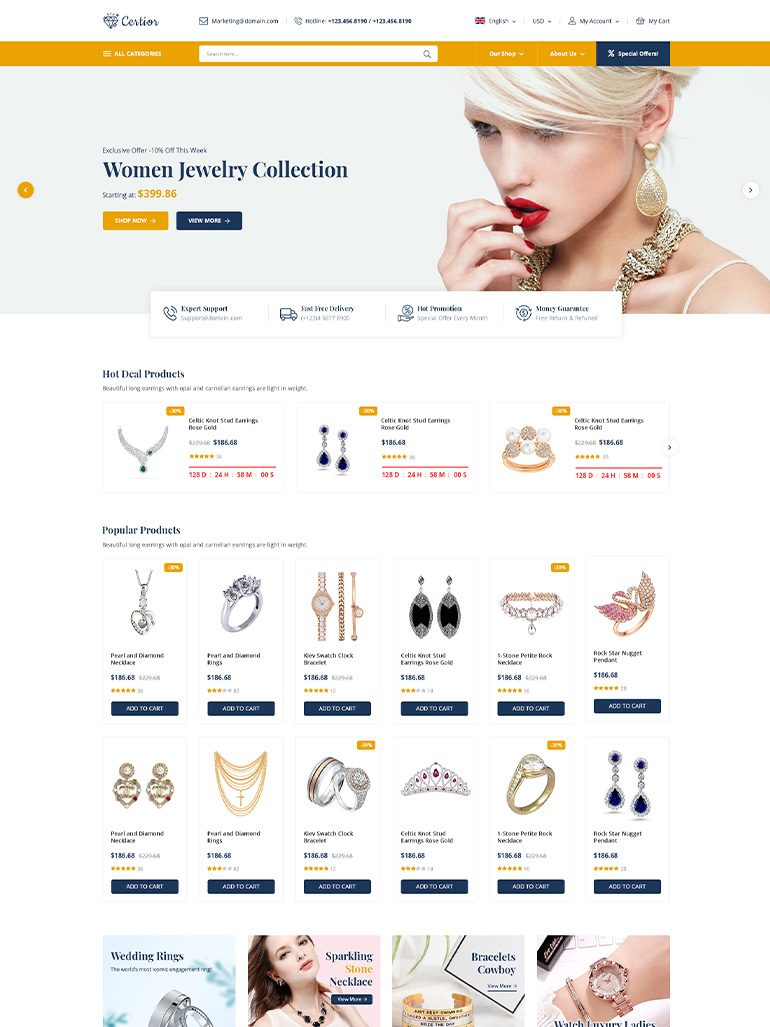 Certior - Jewelry Store Elementor WooCommerce WordPress Theme