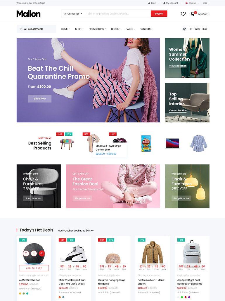 MallOn - Medical Store Elementor WooCommerce WordPress Theme
