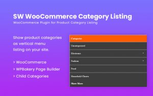 SW WooCommerce Vertical Category Listing WordPress Plugin