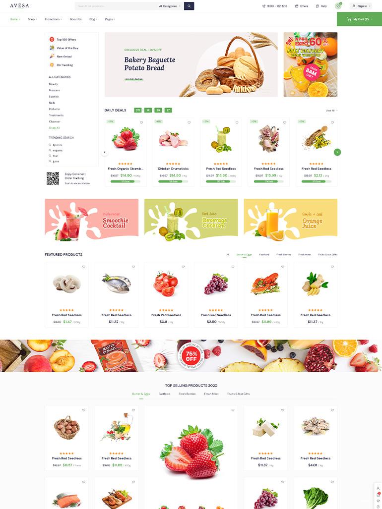 Avesa - Beauty, Cosmetics Store Elementor WooCommerce WordPress Theme