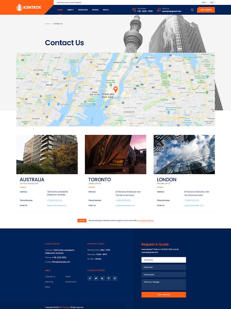 KonTruk - Construction & Building Elementor WordPress Theme