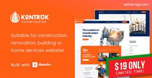 [NEW THEME - $19] KonTruk - Construction & Building Elementor WordPress Theme