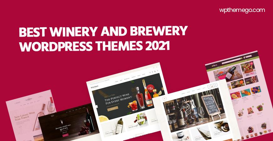 7+ Best Brewery & Winery WordPress Themes 2021