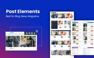 Post Elements Plugin - Elementor Addon for Blog, Newspaper, Magazine